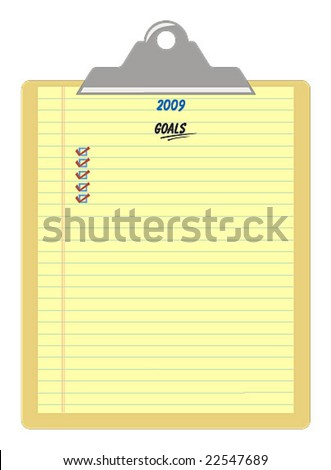 yellow notepad template