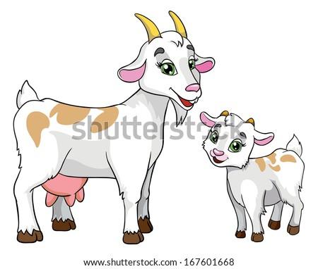 goat kid vector illustration on white stock vector
