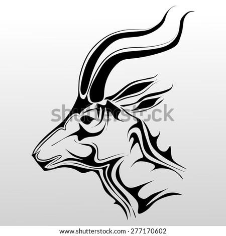Goat vector - stock vector