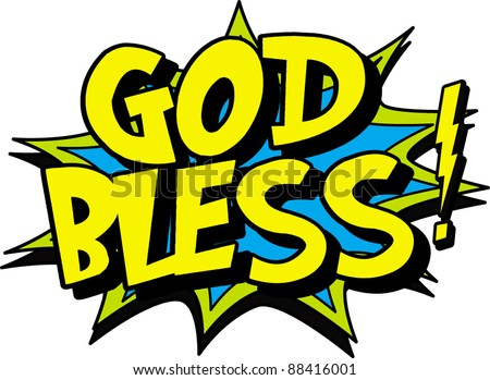 god bless - stock vector