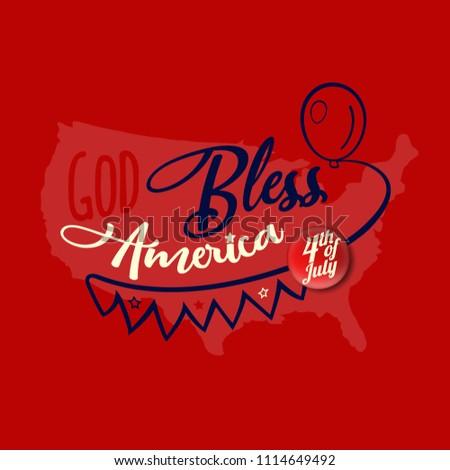 God bless america greeting card design stock vector 1114649492 god bless america greeting card design vector eps 10 m4hsunfo