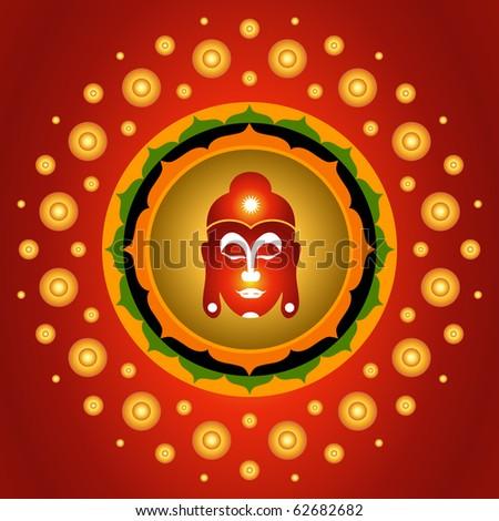 God Buddha Sign On Lotus Mandala Background