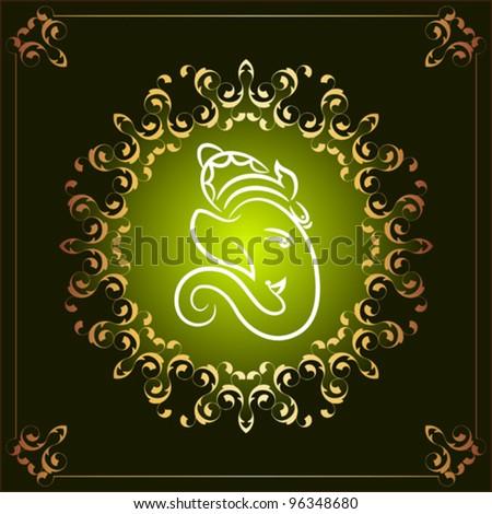 god Ganesha - stock vector