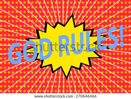 god rules ,Signs illustration, vector - stock vector