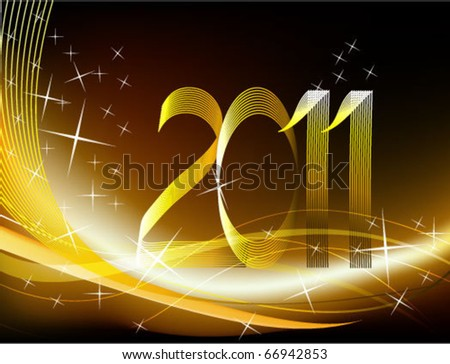Gold abstract background 2011 - stock vector