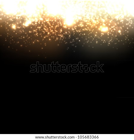 Gold Abstract Dark Elegant Background, Vector Illustration - stock vector