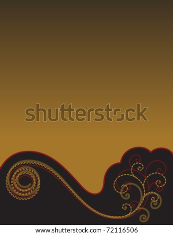 Gold and Black Background for your Text  eps10 - stock vector