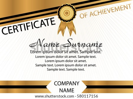 Certificate diploma template reward winning competition stock gold and black template certificate of achievement elegant background winning the competition reward yadclub Gallery