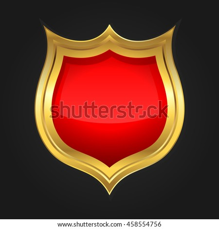 gold and red shield