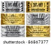 Gold and Silver tickets. Money Off and Free Admittance - stock vector