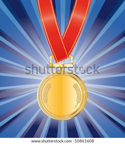 gold award medal on the background