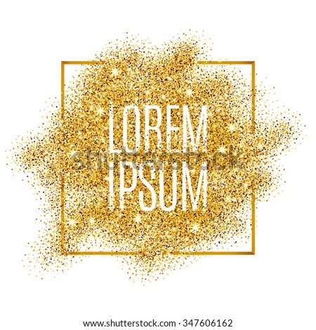 Gold background for flyer, poster, shopping, for sale sign, discount, marketing, selling, banner, web, header. Abstract golden background for text, type, quote. Gold blur background - stock vector