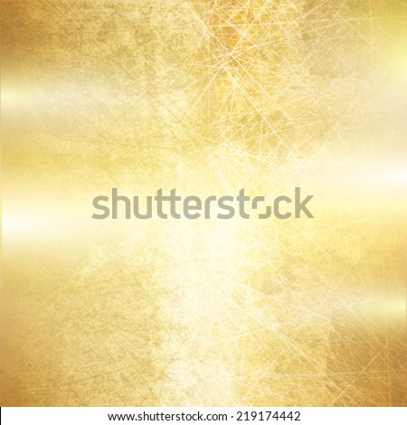 Gold background scratched metal texture. Vector illustration design. - stock vector