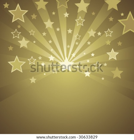 gold background with stars - stock vector