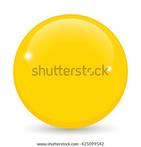 gold ball,  golden sphere.  - stock vector