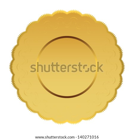 gold banner. vector - stock vector