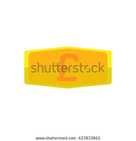 Gold Bar Symbol Pound Sterling Uk Stock Vector 623833862 Shutterstock
