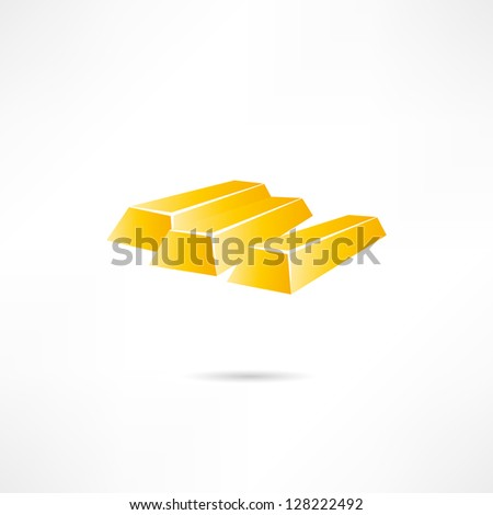Gold bars - stock vector