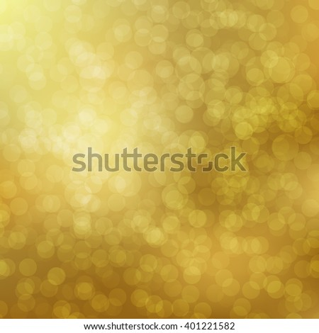 Gold Bokeh background with defocused lights. Vector illustration EPS10. Design for your cards, brochures, cover, flyers, banners, posters etc. - stock vector