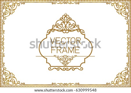 Gold border design frame photo template 630999548 gold border design frame photo template certificate template with luxury and modern pattern yelopaper Image collections