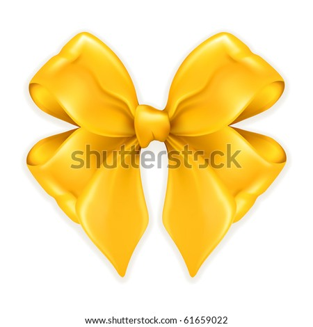 Gold Bow - stock vector