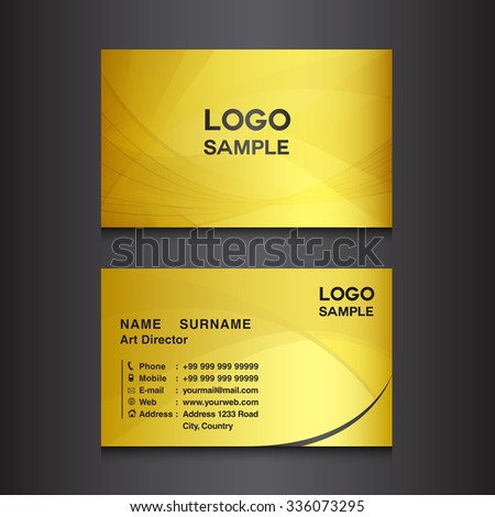 gold business card design template vector stock vector 336073295