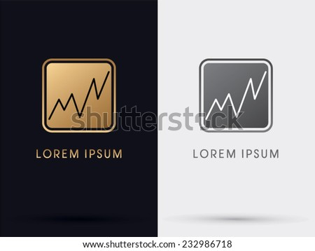 Gold Business Graph Stock Market Symbol Stock Vector 232986718