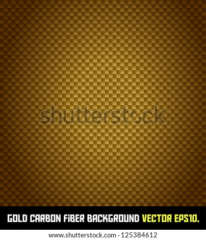 GOLD carbon fiber background VECTOR EPS10. - stock vector