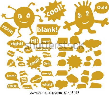 gold chat signs. vector - stock vector