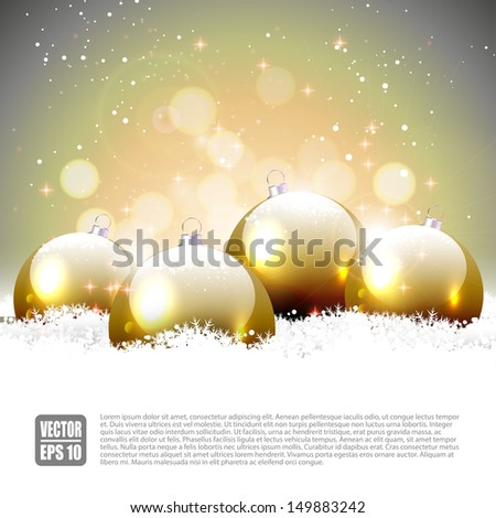 Gold Christmas background - stock vector