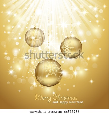 Gold Christmas Background.