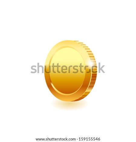 Gold coin. Vector - stock vector