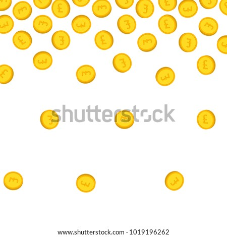 gold coin pound sterling sign vectorのベクター画像素材 1019196262