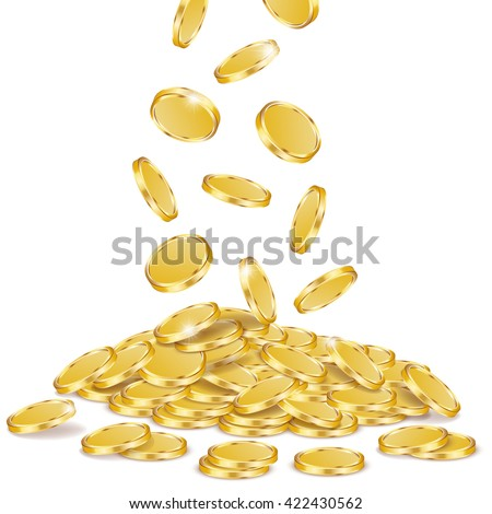 Gold coins, vector