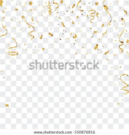 Gold confetti celebration