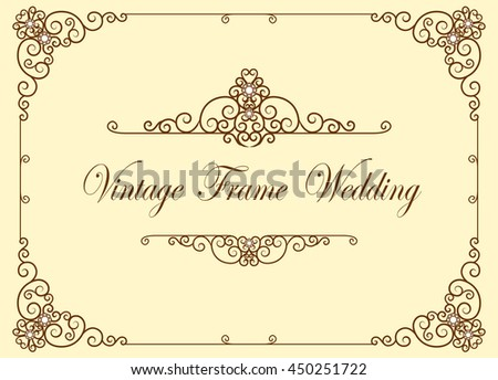 Gold corner ornament greeting card vector stock vector 450251722 gold corner ornament greeting card vector template retro luxury invitation royal certificate flourishes stopboris Image collections