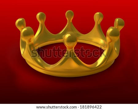 Gold crown a symbol of authority in a vector - gradient mesh - stock vector