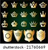 gold crowns - stock vector