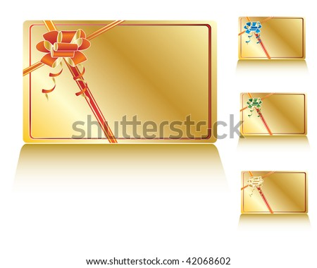 gold decorated gift card