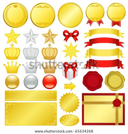 gold decoration - stock vector