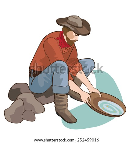 Funny Cartoon Cowboy Stock Vector 137596178 - Shutterstock