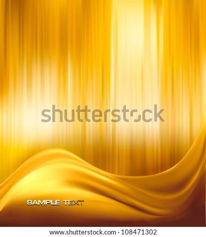 Gold elegant abstract background illustration. Vector. - stock vector