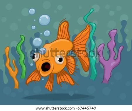 Gold Fish. - stock vector