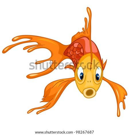 Gold Fish - stock vector