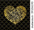 Gold Floral Ornament - vector elements - stock vector
