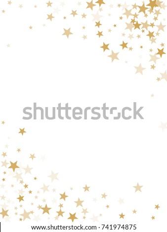 Gold Flying Stars Confetti Magic Christmas Stock Vector 741974875 ...