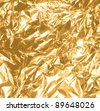 gold foil texture background - stock photo
