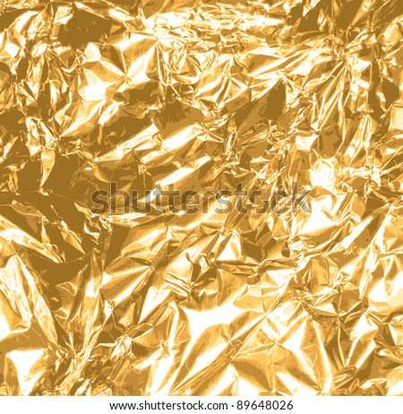 gold foil texture background - stock vector