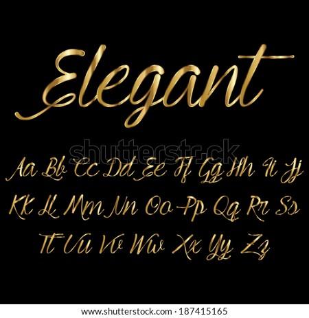 Gold font stock vector 187415165 shutterstock gold font thecheapjerseys Images