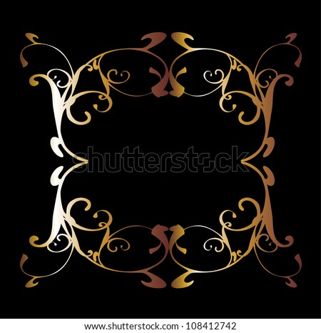 gold frame - stock vector